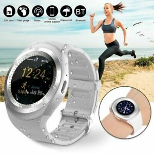 SMARTWATCH-ANDROID-IOS-BLUETOOTH-OROLOGIO-SIM-SLOT-MICRO-SD-SMART-WATCH-BIANCO