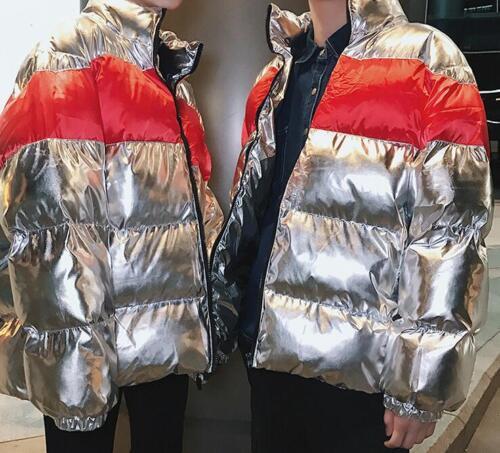 de femmes de militaire surdimensionné Manteau Puff manteau Down de pain Vestes Shinny de ruban rembourré ZqwZXdEO