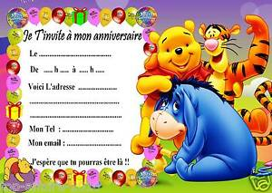 Carte Anniversaire Winnie Lourson Gratuite.Details Sur 5 Cartes Invitation Anniversaire Winnie L Ourson 02