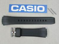Genuine Casio Edifice Ef-552 Ef-552pb Black Resin Rubber Watch Band Strap