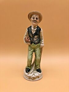 Vintage-Old-Man-Figurine-Senior-Male-Holding-Fruit-Basket-1970s-Country-Statue