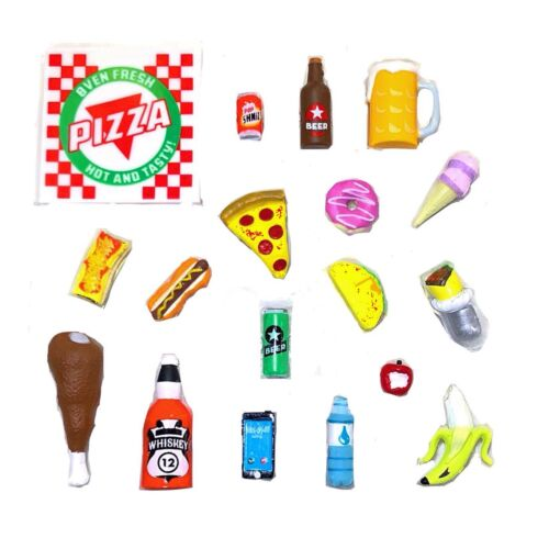 1:12 Super Action Stuff 6 inch scale Food accessories for action figures Lot x 2