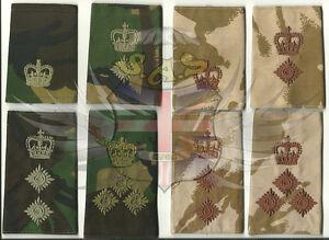 BRITISH-ARMY-SURPLUS-DPM-amp-DDPM-RANK-SLIDE-MAJOR-LIEUTENANT-COLONEL-BRIGADIER
