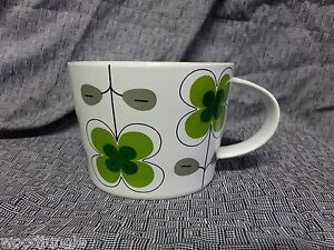 SWEDEN SAGAFORM COFFEE MUG GREEN FLOWERS CAMILLA ENGDHAL for DANISH MODERN