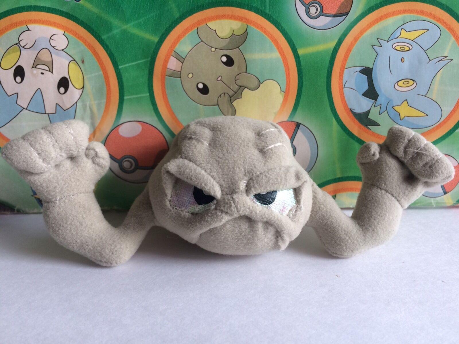 Pokemon Plush Geodude Applause Plush Stuffed Animal Toy Go figure Doll US Seller