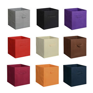 Image Is Loading Home Storage Bins Organizer Fabric Cube Boxes Shelf