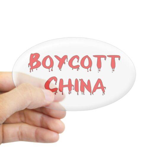 Oval CafePress Boycott China Oval Sticker Sticker 251783233
