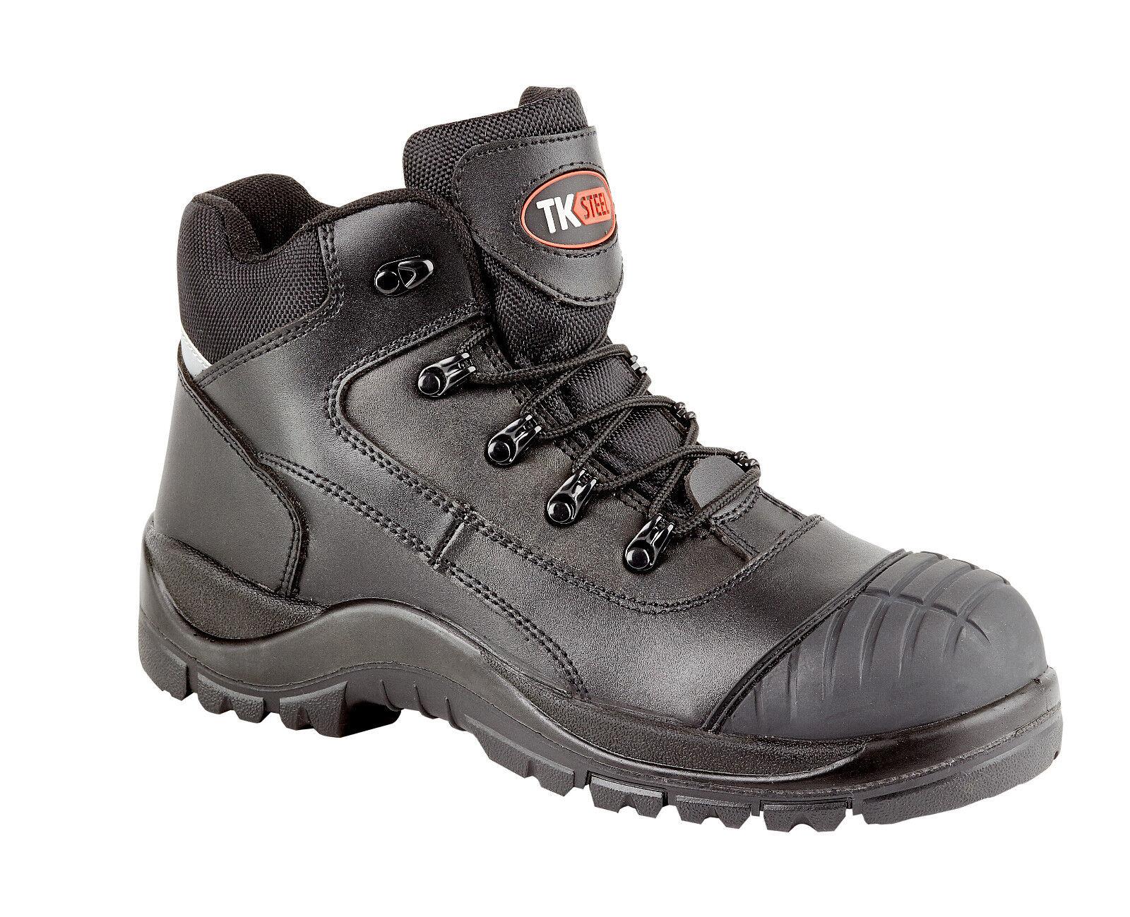 TK acciaio 2115 s3 SRC HRO Puntale in Acciaio Nero Stivali Di Sicurezza Lavoro Stivale GRAFFI CAP
