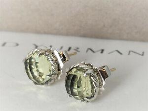 David yurman Chatelaine Stud Earrings with 8mm Lemon Citrine
