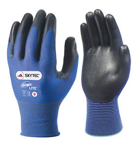 10-x-Pairs-Of-Skytec-NINJA-LITE-Work-Gloves-Ultra-Light-Thin-Safety-PU-Coated