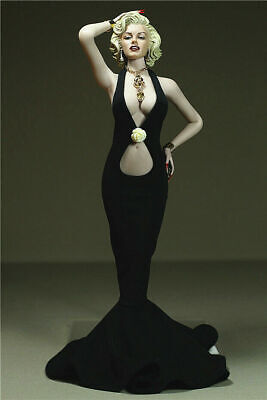 "1//6 Black Dress Necklace Clothing F 12/"" TBLeague Phicen Big Bust Female Body Toy"