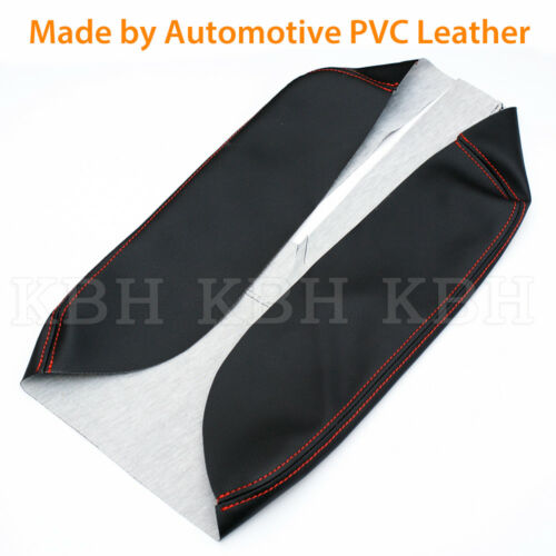Armrest Console Lid Cover Synthetic Leather Fit Toyota Tundra 14-18 Red Stitch