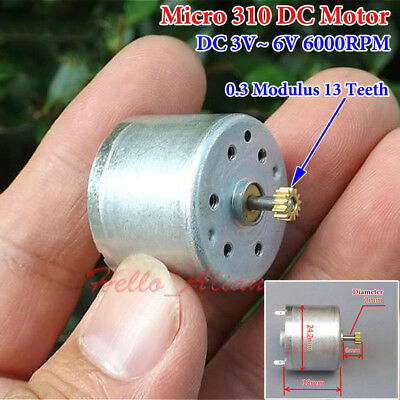 DC 3V-6V 5V 6700RPM Mini RF-310T DC Mute Motor DIY Toy Hobby Solar Power Model