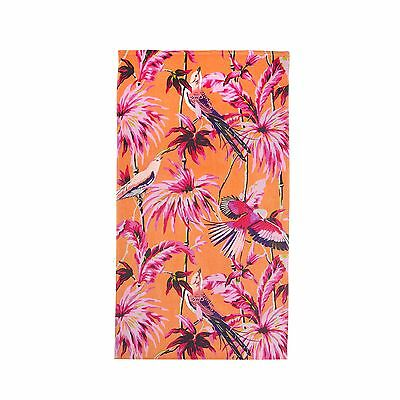 Butterfly Home By Matthew Williamson Orange Hummingbird Floral Print Beach Towel