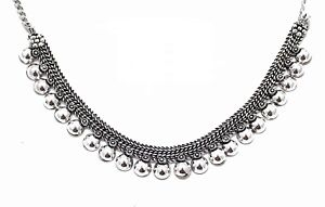 Indian-Ethnic-Vintage-Boho-Silver-Oxidized-Choker-Fashion-Necklace-Jewelry