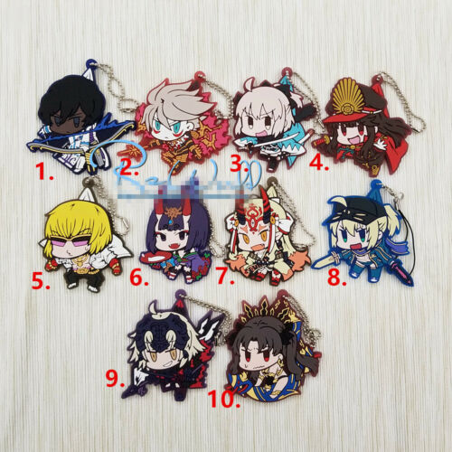 T1255 Anime Fate//Grand Order FGO rubber Keychain Straps Rare cosplay