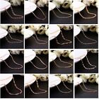 Wholesale 18K Rose Gold / Gold Plated GP Fashion Chain Necklace for Pendants