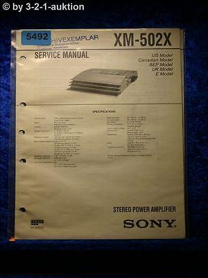 Sony Service Manual XM 502X Amplifier (#5492) | eBay