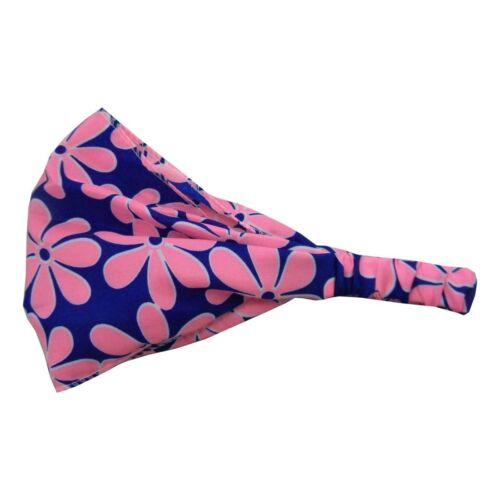 Hair Wrap Head Wrap Women Daisy Flower Accessory Soft Wide Headband w//elastic