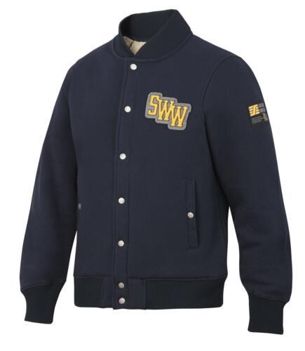pile sweat-shirt travail polaire doublé veste bleu marine bleu Snickers 2832 ruffwork