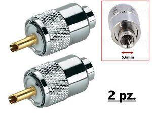 Connettore-Spina-PL259-UHF-ridotta-D-5-3mm-x-RG58-confezione-2-pezzi
