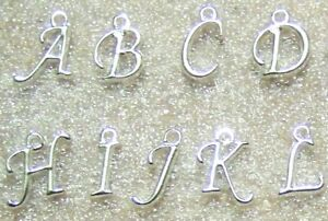 Initial Letters Alphabet Charms Rose Gold Plated Charms WITH Jump Ring or Clasp