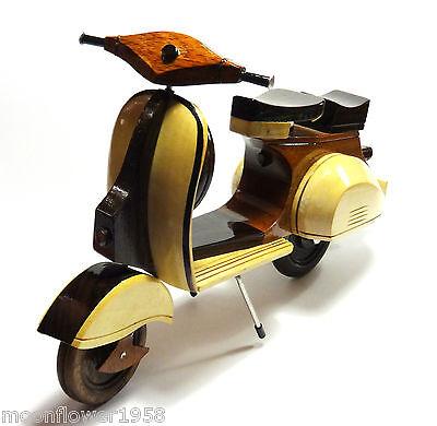 NEU Miniatur Motorroller Holz Roller Dekoration Motoroller 26 cm Deko