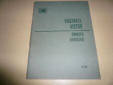 Vauxhall Victor Owner's Handbook - Vintage - - Glove Box - T.S.542 Series FB