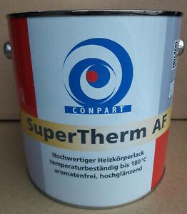 (20,00 €/l) Ral 9003 Conpart Super Therm Af Heizkörperlack Brillant 2,5 L-afficher Le Titre D'origine