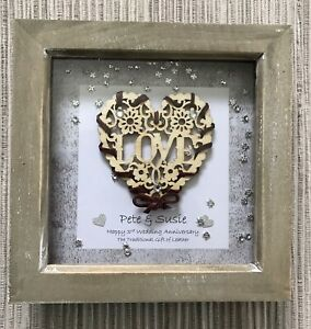 Details About Personalised Handmade 3rd Wedding Anniversary Traditional Leather Gift Frame