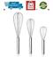 "3Pc Whisk Set Multifunction 12/"" 10 /""8 /"" Kitchen Hand Wisk Set Professional Co..."