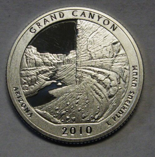 2010-S Grand Canyon Arizona Gem DCAM Silver Proof Parks Quarter Stunning Coin