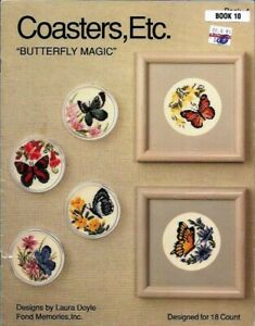 Coasters-Etc-BUTTERFLY-MAGIC-charted-for-Counted-Cross-Stitch-Fond-Memories-10