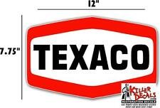 "LUBSTER 12/"" /""GREEN/"" TEXACO WORDING GASOLINE DECAL OIL CAN TEXA-1 GAS PUMP"