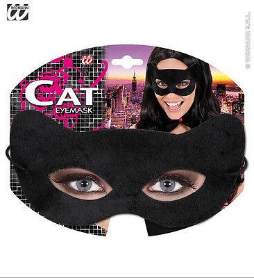 Katzenmaske wie Cat Woman Katze Augenmaske schwarz Maske Fasching NEU