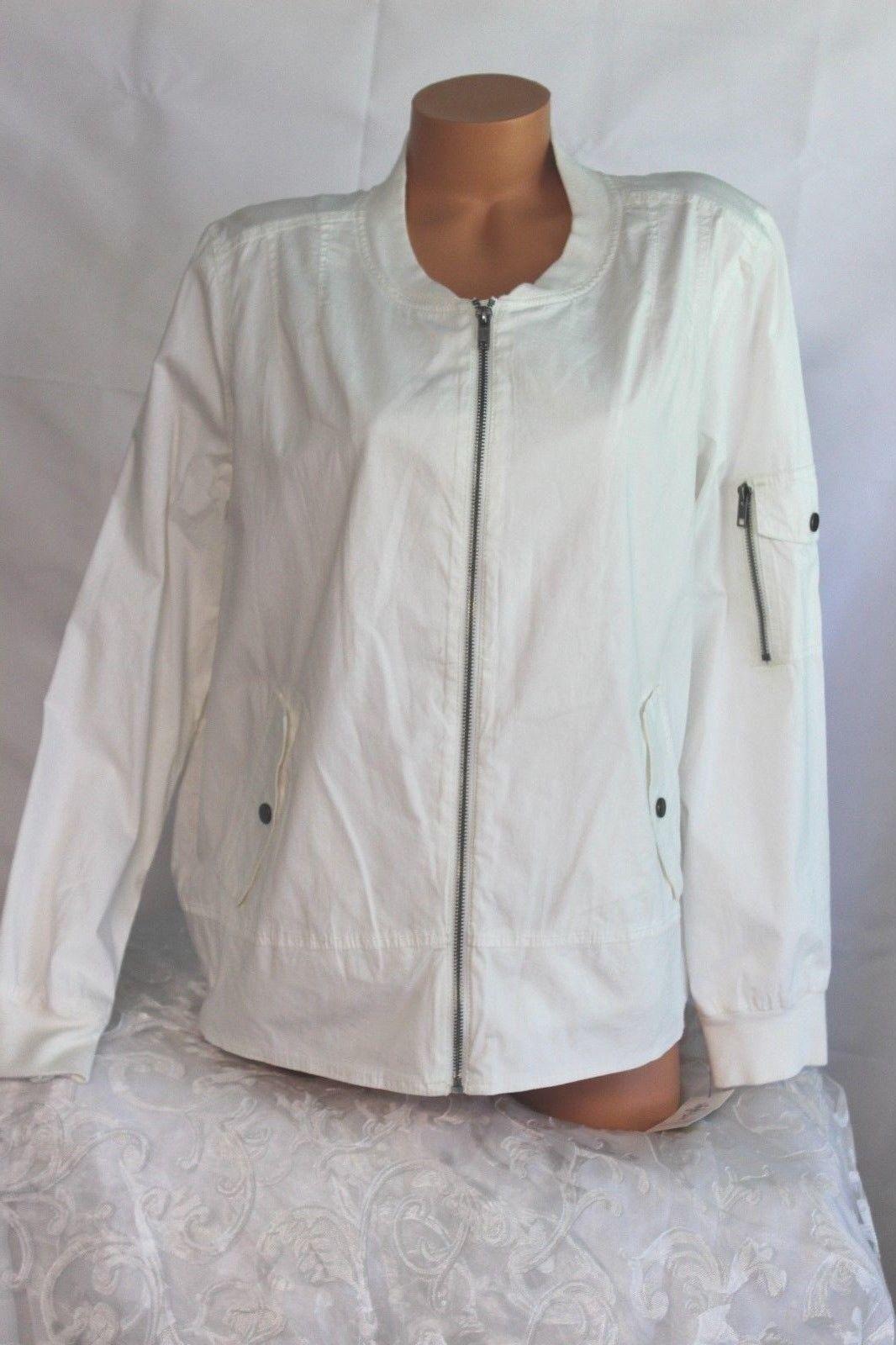 STYLE & amp;CO. (XL) Light Jacket TÉLI FEHÉR CSOMAG BOMBER zseb MSRP $ 69.50