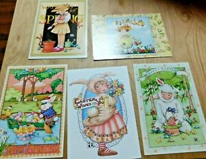 VTG-Lot-of-5-Mary-Engelbreit-Easter-Greeting-Cards-Family-amp-Friends-5x7-034