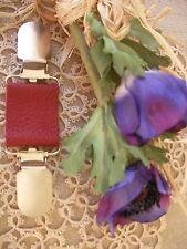 Giacca/maglione in Pelle Clip ~ Gotico ~ Stile Boho Perla Rosso ~ ~ 70 COLORI + MAGNOLIA ~ Taglia unica ~ BN