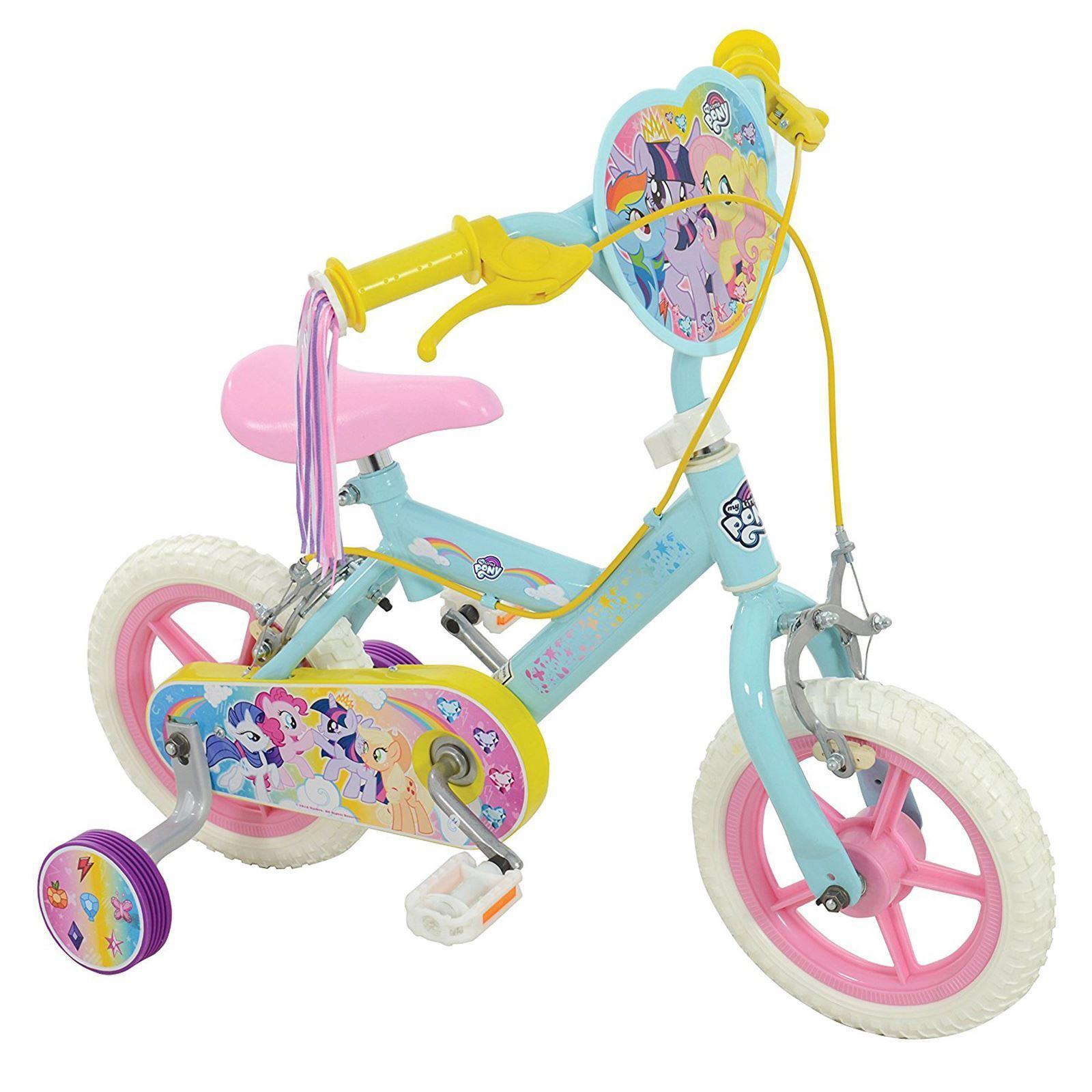 My Little Pony 12  Bicicleta 2 en 1 Manillar Cintas Altura Ajustable Niño Niña