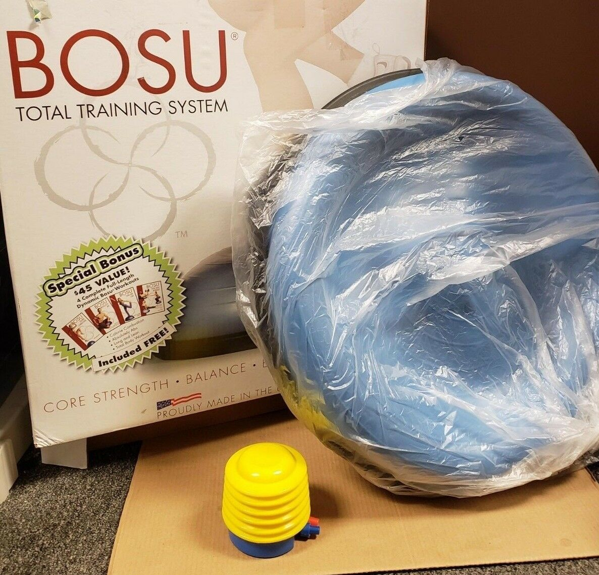 BOSU Balance Trainer Total Training System-  BALANCE BALL AND PUMP ONLY