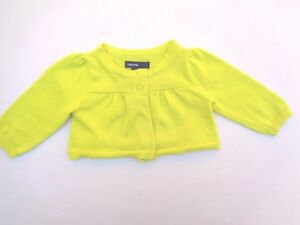 4072deb7c Details about Baby Gap Cardigan Girls Clothes Size 0-3 M Yellow Sweater NB  3m Knitted knit