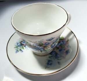 Crown Trent Staffordshire England Bone China Cup and Saucer