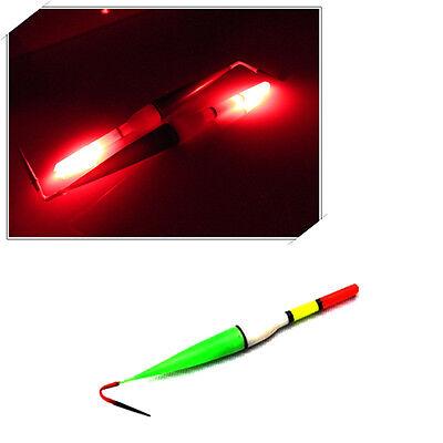 Pack of 3 Night Fish Fishing Floats Bobber Red Flashing LED Light