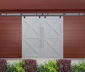 Double Sliding Barn Door Hardware Box Track Wall Mount Kit ...
