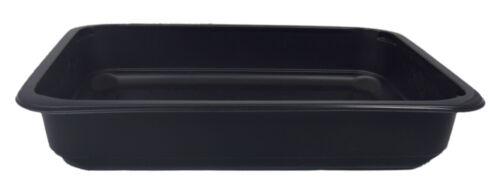 320 PP Siegelschalen Menüschalen 227x178x41mm ungeteilt tief 1000ml schwarz