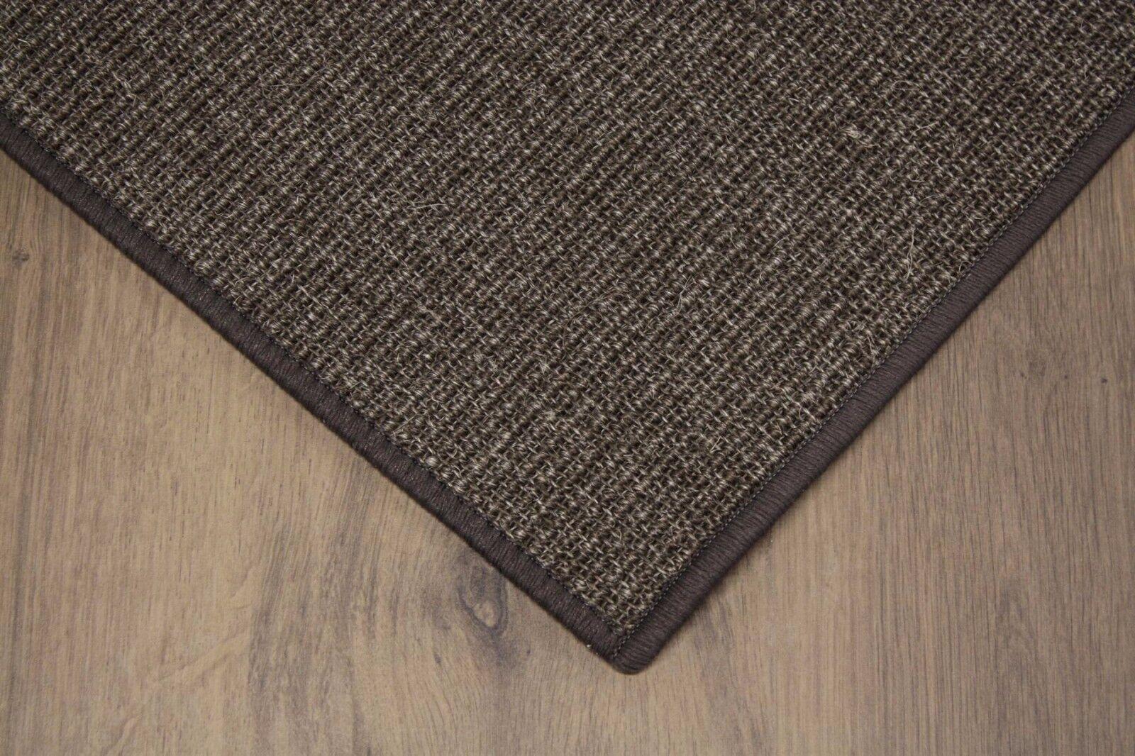 Sisal alfombra umkettelt café 400x600cm 100% sisal marrón gekettelt transportista