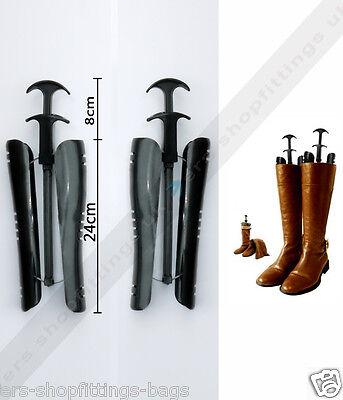 1 Paio Automatico Nero Boot Boot Stampini Supporto Scarpa Tree Lettiga Breve-mostra Il Titolo Originale Elegante E Grazioso