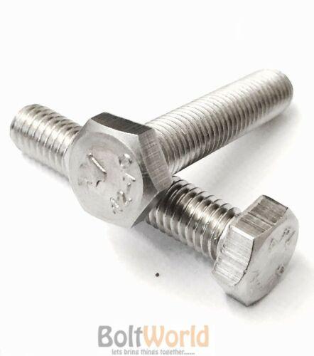 FWS M14//14 mm Inoxydable A2 Entièrement Fileté Boulon Vis à tête hexagonale Hex Set DIN933