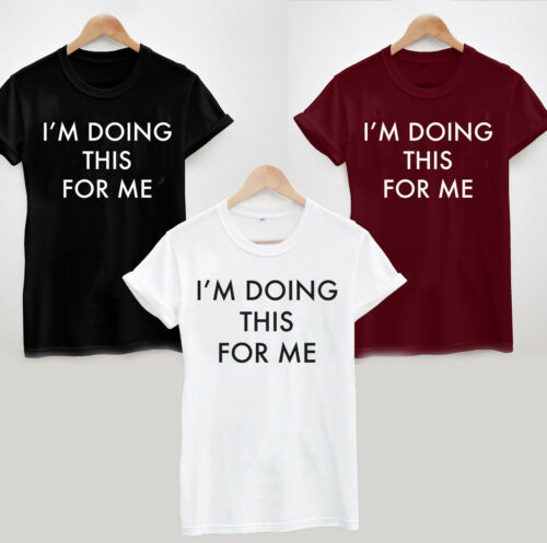 Fitness Workout Yoga Gym Weight Loss Slimming I/'m Doing This For Me T-Shirt