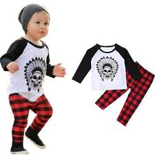 1Set Infant Toddler Baby Boys Printed T-shirt Tops+Pants Outfits Clothes Pcs